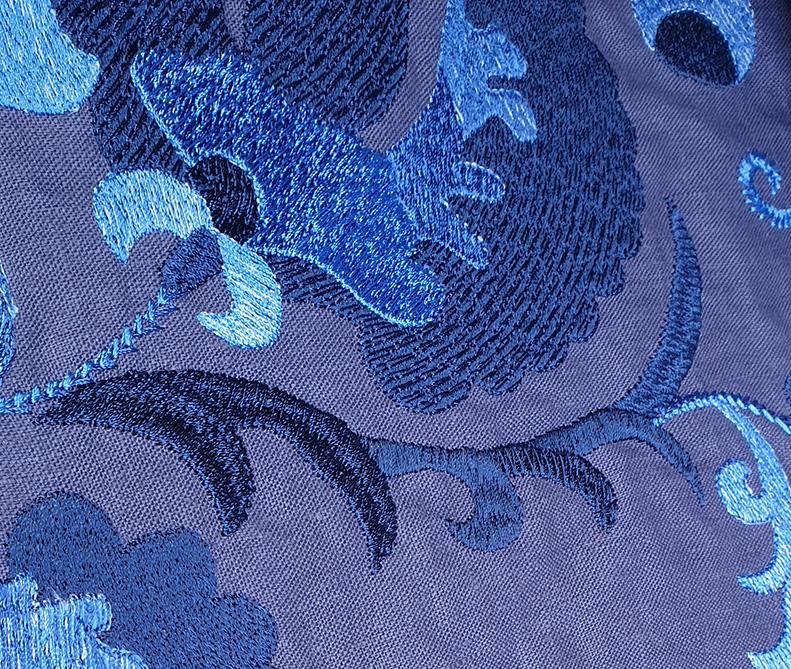 Tessuto cobalto | sartoria MastroTappezziereIn
