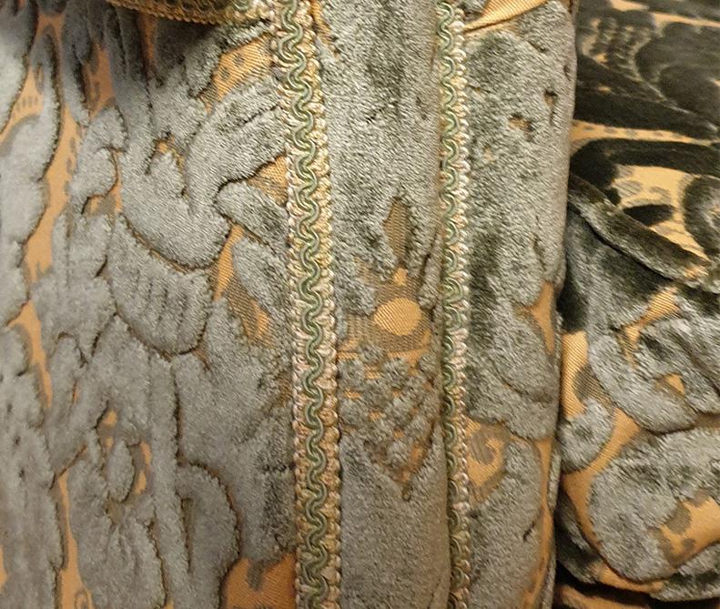 Tessuto verde   sartoria MastroTappezziereIn